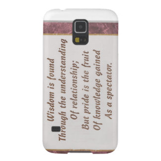 Wisdom Is Found Products Galaxy S5 Cover