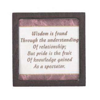 Wisdom Is Found Products Premium Jewelry Box