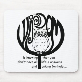 wisdom is mouse pad