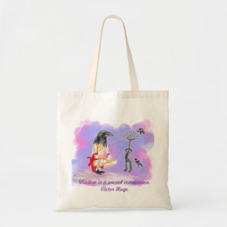 Wisdom is sacred communion canvas bags