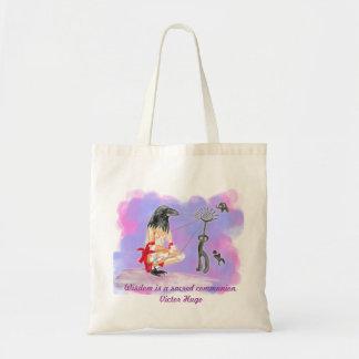 Wisdom is sacred communion canvas bags