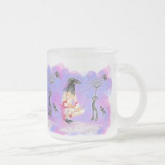 Wisdom is sacred communion 10 oz frosted glass coffee mug