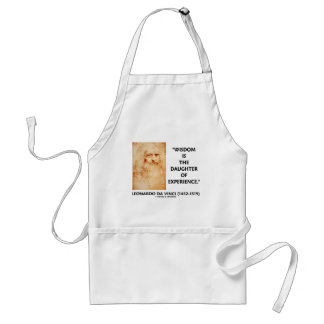 Wisdom Is The Daughter Of Experience (da Vinci) Adult Apron