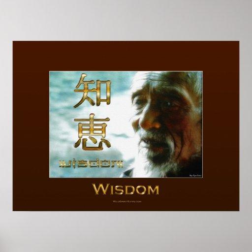 WISDOM (Kanji) Asian Philosophy Poster