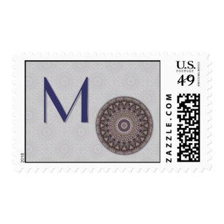 Wisdom Mandala Monogram Postage