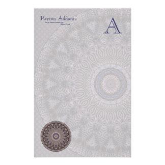 Wisdom Mandala • Monogram Stationery