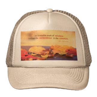 Wisdom Miraculous Common Acorns Autumn Leaves Fall Hats