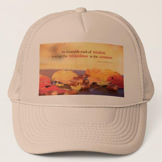 Wisdom Miraculous Common Acorns Autumn Leaves Fall Trucker Hat
