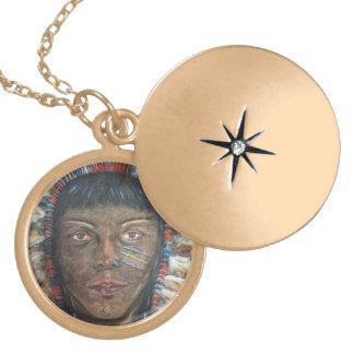 """Wisdom"" Native American In Headdress Custom Jewelry"