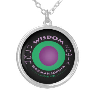 Wisdom Necklace-black background Silver Plated Necklace