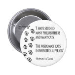 Wisdom of Cats 2 Inch Round Button