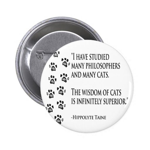 Wisdom of Cats Pinback Buttons