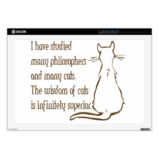 Wisdom of Cats Skins For Laptops
