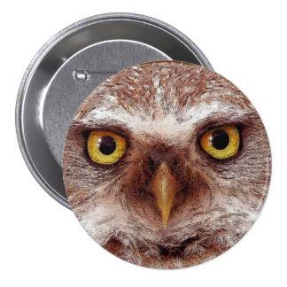 Wisdom Owl Eyes for Bird-lovers Button