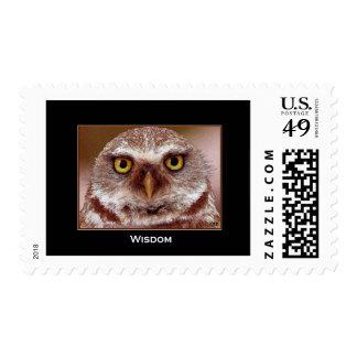 WISDOM OWL POSTAGE STAMP