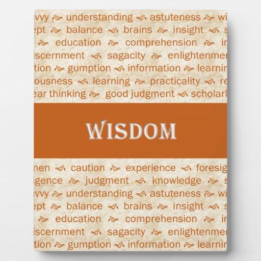 wisdom display plaque
