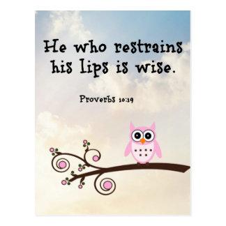Wisdom - Proverbs 10:19 Postcard