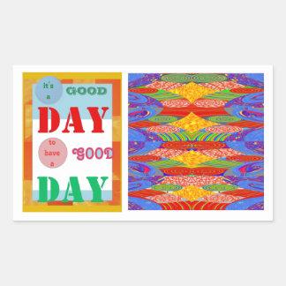 Wisdom Quote GoodDay GOOD DAY Fun Gifts Rectangular Sticker