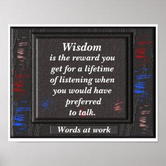 Wisdom - quote poster