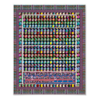 Wisdom Quote Text Past Wall decoration FineArt