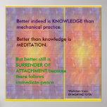 WISDOM Quotes from Bhagavad Gita Posters