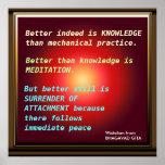 WISDOM Quotes from Bhagavad Gita Print