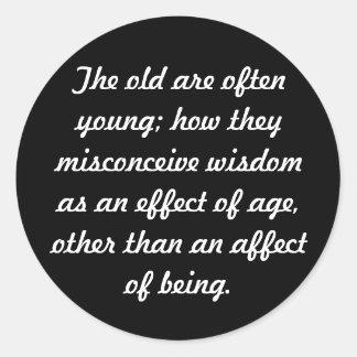 Wisdom Classic Round Sticker