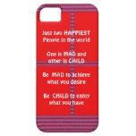 Wisdom Text:  Happy Mad Child Enjoy iPhone 5 Cases