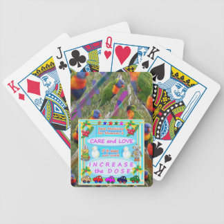 Wisdom Text : Human Care n Love Bicycle Playing Cards