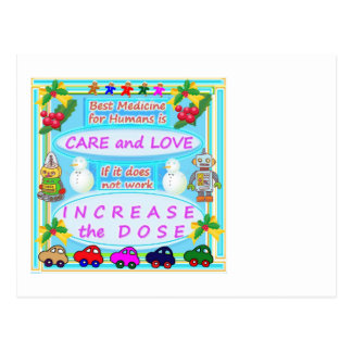 Wisdom Text : Human Care n Love Postcard