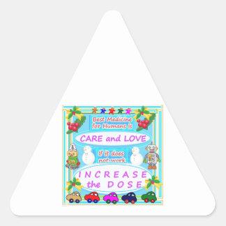 Wisdom Text : Human Care n Love Triangle Sticker