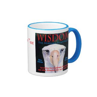 """WISDOM, the Midway Albatross"" Book Cover Art Ringer Coffee Mug"
