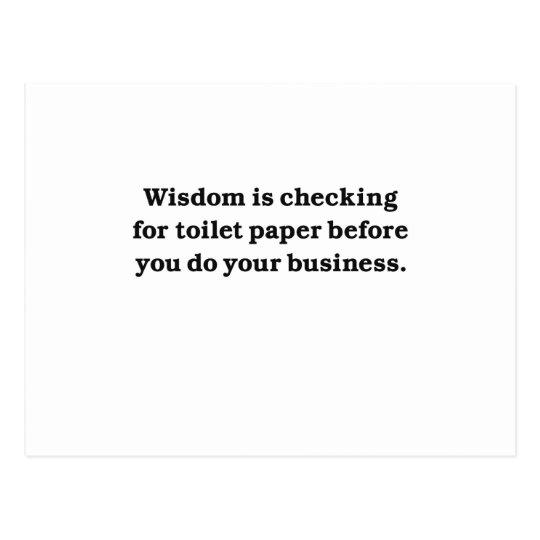 Wisdom (toilet paper check) postcard