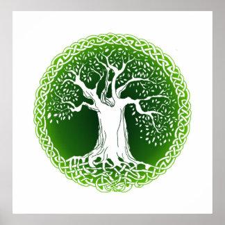 Wisdom Tree (versión verde) Posters