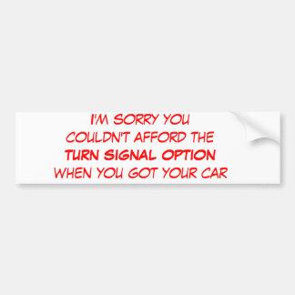 Wisdom While Driving Car Bumper Sticker
