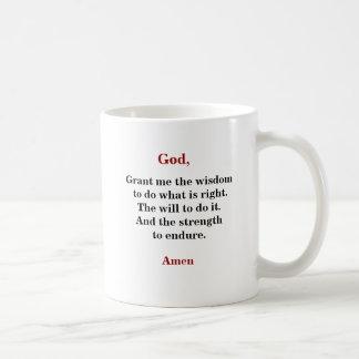 WISDOM, WILL & STRENGTH COFFEE MUG