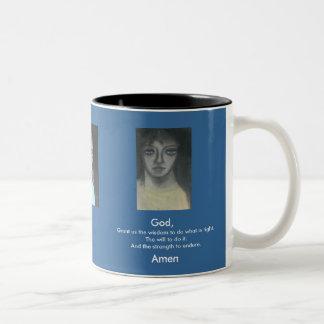 WISDOM, WILL & STRENGTH Two-Tone COFFEE MUG