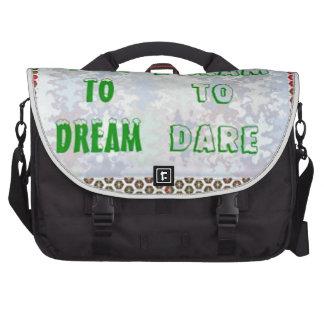Wisdom Words: Dare to DREAM - Dream to DARE Computer Bag