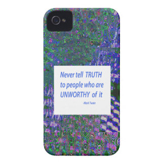 Wisdom Words - Tell Truth Trustworthy Worthy gifts Case-Mate iPhone 4 Case