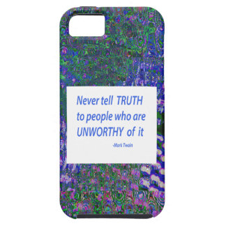 Wisdom Words - Tell Truth Trustworthy Worthy gifts iPhone SE/5/5s Case