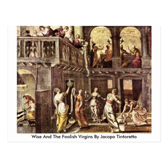Wise And The Foolish Virgins By Jacopo Tintoretto Postcard