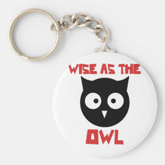 Wise as the Owl Keychain