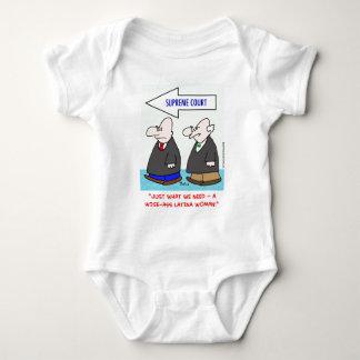 wise-ass latina woman sotomayor sonia supreme cour baby bodysuit