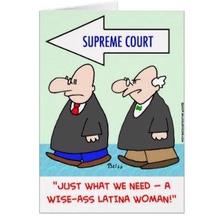 wise-ass latina woman sotomayor sonia supreme cour card