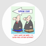 wise-ass latina woman sotomayor sonia supreme cour classic round sticker