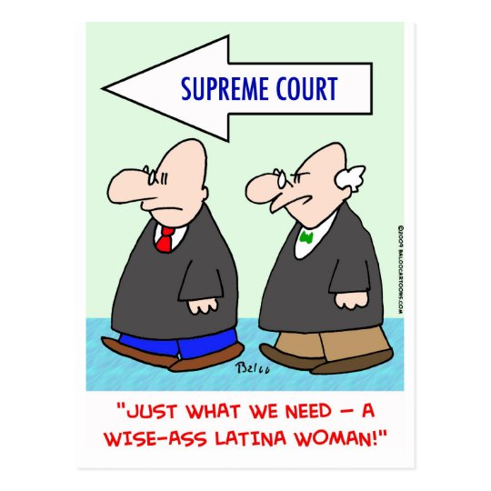 wise-ass latina woman sotomayor sonia supreme cour postcard