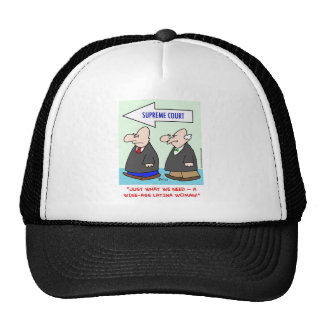 wise-ass latina woman sotomayor sonia supreme cour trucker hat