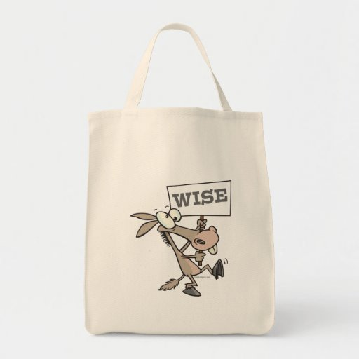 WISE ASS WISEASS FUNNY CARTOON DONKEY BAGS
