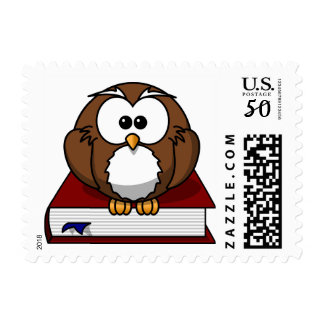 Wise Book Owl Back to School Stamp