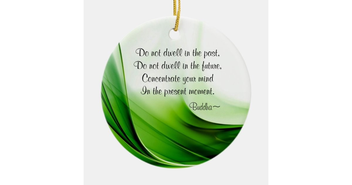 Wise Buddha Quotes Abstract Christmas Ornament Zazzle Com